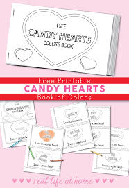 Valentine's day coloring pages you can download for free, from sweet pictures for preschoolers to intricate doodles for adults to color in. Free Printable Candy Hearts Valentine Color Book For Kids