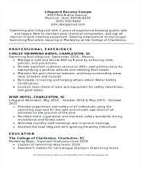 Resume For Lifeguard Lifeguard Resume Example Lifeguard Resume