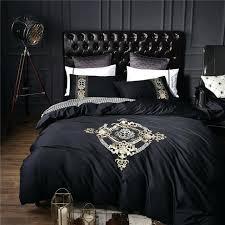 black duvet cotton black golden luxury bedding sets soft bedclothes king queen size duvet black duvet black duvet black and white ruffle duvet cover