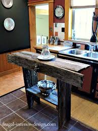 rustic homemade kitchen islands 2