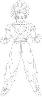 Goku SSJ2 Lineart by LUISHATAKEUCHIHA on DeviantArt