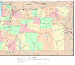 Oregon Political Map