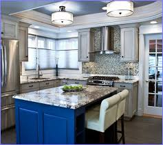 Wonderful ... Blue Tables Interesting Granite Beautifull Smoothness Crafted Kitchen  Light Fixtures Flush Mount Minimalist Pertaining ... Photo