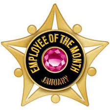 Emploee Of The Month Employee Of The Month Star Jewel Lapel Pin Set