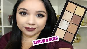 makeup revolution pro hd powder contour kit review demo