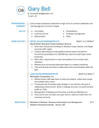 Customer Service Representative Resume 650 841 Retail