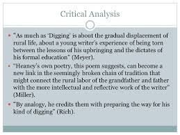 seamus heaney s ldquo digging rdquo ppt video online critical analysis