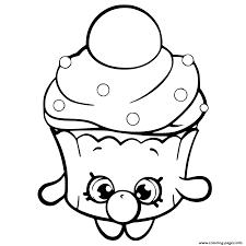 Bubble Cupcake Shopkins Season 6 Coloring Pages Printable