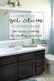 Unique diy bathroom ideas using wood Toilet Gel Stained Bathroom Ideas Maison De Pax Maison De Pax Diy Gel Stain Cabinets no Heavy Sanding Or Stripping Maison De Pax