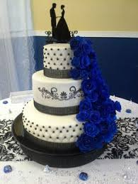 black and white and blue wedding cakes. Winter Wedding Decorations In Black And White Blue Cakes