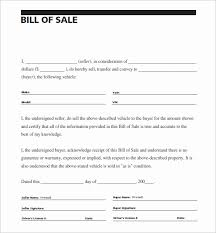 Sample Of A Bill Of Sale For An Automobile Emilys Welt Eu