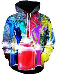 <b>Men's</b> Color Spray <b>Paint Print Hoodie</b> Sweater Comfort | Gearbest