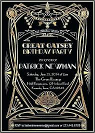 Great Gatsby Invitation Template Great Invitation Template Free Download Awesome Party Of