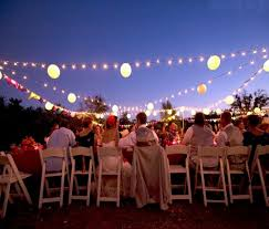 bright ideas for lighting an outdoor wedding from the pavilion at lane end