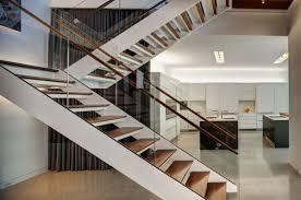 modern stairs glass