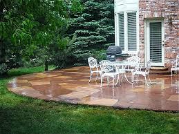 Easy Patio Decorating Stone Patio Ideas Fresh Look Home Designs
