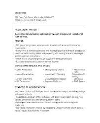 Head Waitress Job Description Waitress Duties Resume Resume For ...