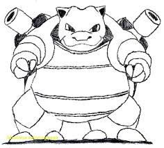 Pokemon Coloring Pages Blastoise At Getcolorings Com Free Colouring