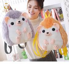 2019 30CM*28CM <b>Creative Cute Little Hedgehog</b> Backpack ...