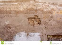 Afgebrokkeld Van Het Behang Van De Gipspleister Witte Bakstenen Muur