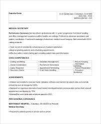 sample medical secretary resume examples of secretary resumes