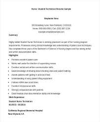 Nursing Student Resume Examples Awesome Nursing Student Resume With No Experience Inspirational Resume