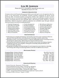 Manager Resume Examples Property Manager Resume Sample More Project