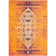 safavieh monaco orange multi 3 ft x 5 ft area rug