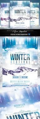 Winter Flyer | Psd Templates, Template And Flyer Template