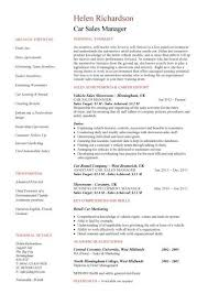 Car Sales Manager resume ...