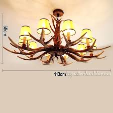classic elk antler chandelier candelabra ceiling lights rustic lighting fixtures home decor with lamp shades style