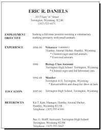 First Resume Objective Job Resume Objective Statement Example Of
