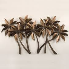shocking accessories palm tree metal wall art no bad days pict of large outdoor inspiration and