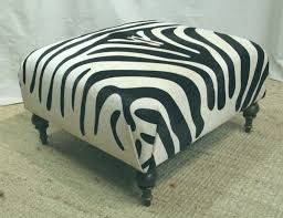 round zebra ottoman reclining and rocking plush over stuffed bonded leather chair recliner black mid century
