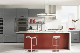 image modern kitchen. In Modern Kitchen Always Is About Sharing A Tendency Toward The Horizontal: Long, Wide Lines, Stacks Of Drawer Cabinets Lined Row, Hardware Set Long Image T