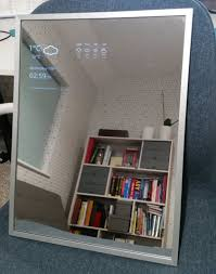 picture of smart mirror using broken android tablet