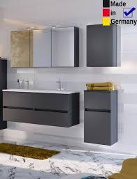 Badezimmer Britt 32 Dunkelgrau 4 Teilig Waschtisch 3d Spiegelschrank