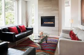 limestone fireplace surround living room contemporary with red velvet throw pillow polyester fill decorative pillows