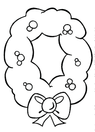 Wreath Coloring Pages Wreath Coloring Pages Fall Kit Also Berry And