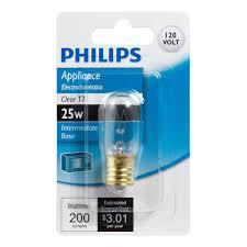 Appliance Light Bulb Microwave Philips 25 Watt T7 Microwave Incandescent Light Bulb