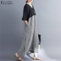 <b>Плюс Размеры ZANZEA</b> Для <b>женщин</b> летнее платье ...