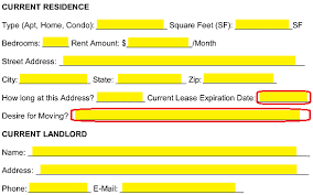 Blank Rental Application Free Rental Application Form Pdf Word Eforms Free Fillable Forms