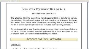 Equipment Bill Of Sale New York Equipment Bill Of Sale YouTube 14