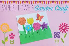 paper flower garden craft for kids