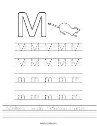 Practice Writing Letters Practice Writing The Letter M Worksheet For Kids Pinterest