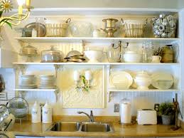 Small Picture Kitchen White Tiered Wall Mounted Kitchen Shelves For Displaying