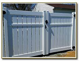 vinyl fence double gate. PVC Fencing Double Gate With Lockable Hardware Vinyl Fence