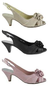 image is loading womens las wide ing kitten heel wedding shoes