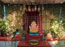 innovative ganpati decoration ideas for home with kaliras image source ariyonainterior com