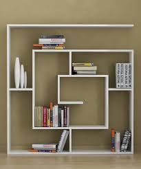 nice white polished square modern wall shelves for bookshelves as
